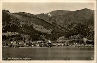 Bad Wiessee am Tegernsee Postkarte ~1950/60 Gesamtansicht See Berge ungelaufen