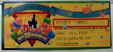 DISNEY WDW 15 YEARS BIRTHDAY 1987 PRIZE WINNER TICKET