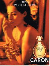 PUBLICITE ADVERTISING 064  1994  CARON   SACRE PARFUM