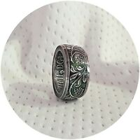 1977 Silver Jubilee Double sided Coin Ring British uk