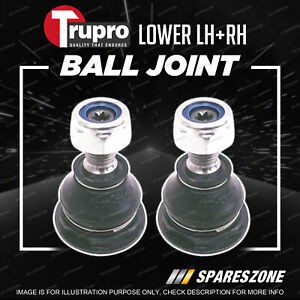 Pair Trupro Lower Ball Joints for Peugeot 308 XS XT Wagon Hatch 8/2008-9/2014