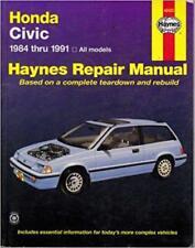 Haynes Honda Civic 84-91 Crx CR-X DX LX si Wagon propriétaires Service Manual Manuel