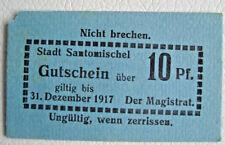 Notgeld Stadt Santomischel (Posen/Polen:Zaniemyśl) Gutschein 10 Pf. 1917 (1896)