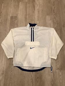 Vintage Nike Anorak Jacket White Small