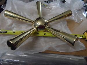 NOS Gun Safe Vault Hub Gold Finish 5 Spoke Safe Handle #1