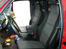 FORD RANGER 2010-2011 BLACK/CHARCOAL LEATHER-LIKE 2 FRONT SEAT & CONSOLE COVERS