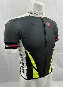 Castelli Summer Climber's Short Sleeve Cycling Jersey Black White Fluo Yellow SM