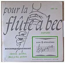 Pour la flûte à bec soprano - avec 6 altérations - accompagnement clavecin, gamb