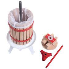 1.6 Gallon Fruit Wine Press Cider Apple Grape Crusher Juice Maker Tool Vise Wood