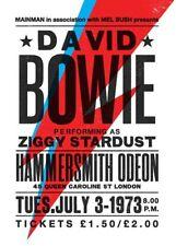 Framed Vintage Music Concert Poster – David Bowie 1973 (Replica Picture Artwork)