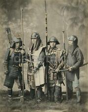 Japanese Samurai Warriors 1881 Classic Reprint Photograph 6x5 Inch