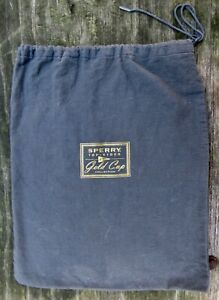 """Drawstring SHOE BAG ONLY Sperry GOLD CUP Top-Sider SACK Cloth 14"""" Large RARE VG+"""