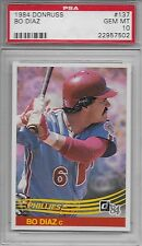 1984 DONRUSS # 137 BO DIAZ ☆RARE☆ PHILADELPHIA PHILLIES PSA 10 GEM-MINT