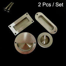 4x 26mm Round Matt Chrome Effect Door Knob Metal Handle Cupboard Drawer Cabinet