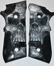 Taurus PT92 / PT99 / PT101 pistol grips large pearl skull on black for deckocker