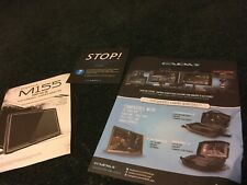 Gaems 1080 HD Monitor Manual Inserts Performance Gaming