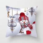 "18"" Uk Christmas Xmas Cushion Cover Pillow Case Sofa Home Decor Reindeer Snow"