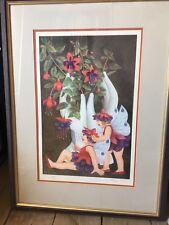 Beryl Cook, signed limited edition print - Fuschia Fairies
