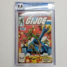Marvel Comics G.I. Joe, A Real American Hero #1 CGC 9.4 White Pages Key Comic
