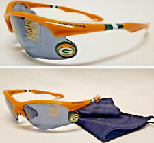 READ LISTING! Green Bay Packers XL 3D Logo on GOLD Blade Sunglasses! 2 PC SET!