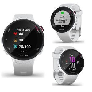 Garmin FR Forerunner 45S White Smart GPS HRM Sports Running Multisport Watch