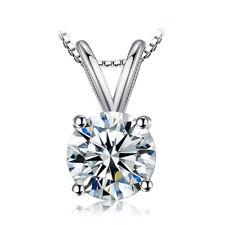 Damen Halskette Zirkonia Anhänger Sterling Silber 925er Schmuck Frauen
