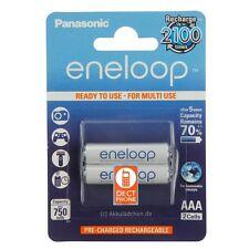 2x Panasonic Eneloop AAA Akku Ni-MH Micro 1,2V DECT Telefone Accu HHR-55AAAB