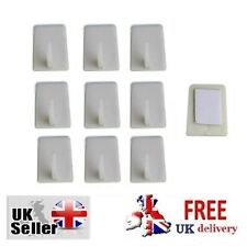 12 PC SELF ADHESIVE HOOKS home Sticky Storage Solution White Kitchen Wall DIY