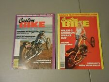 LOT OF 2 JAN./FEB. 1978 CUSTOM BIKE MOTORCYCLE MAGAZINES,HARLEYS,MASS.,MINN.,CAL