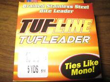 Bobine 5 m Tressé Acier Inoxydable blindé TUF-Line Morsure leader 8 kg