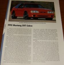 ★★1993 MUSTANG SVT COBRA R SPECS INFO PHOTO 87-93 LX GT VIBRANT RED 5.0★★