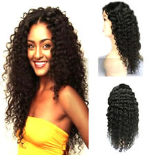 Women Long Curly Wig Black Cosplay Lace Front Party Carnival Hair Wigs