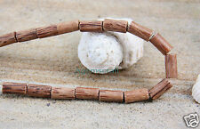 16 Nice Brown natural patterns coconut wooden wood tube shaped beads 20mmx10mm