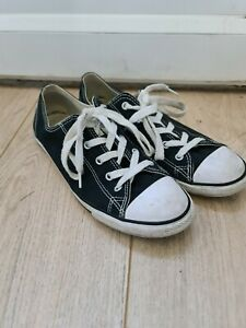 Converse All Star Slim black low top unisex trainers UK 7.5