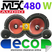 "Renault Megane 1995-02 MTX 6.5"" 480 Watts Component Kit Front Door Car Speakers"