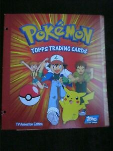POKEMON TOPPS TRADING CARDS TV ANIMATION EDITION FOLDER WITH CHECKLIST