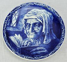 "Antique Boch Freres Wall Plate Charger 19"" diameter Delft La Louv (BI#MK/181109)"