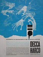 11/1964 PUB DECCA AUTOMATIC 3-D NAVIGATION OMNITRAC ATC ORIGINAL AD