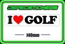 STICKER I LOVE GOLF BUMPER CADDY BUGGY STICKER BNIP CAR WINDOW TITLEIST CLUB