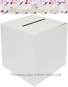Square White Post Box Cards Money Wedding Engagement Birthday Christening Party