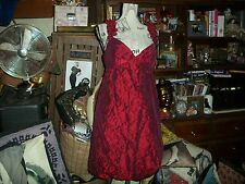ANTHROPOLOGIE MUSE Romantic Scarlet Red Taffeta Dress Size 12