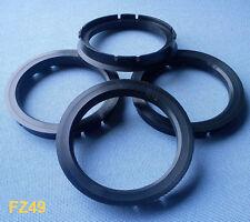 (FZ49) 4 Stück  Zentrierringe 73,0 / 60,1 mm schwarz für Alufelgen