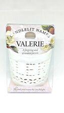 Personalised Candlelit Names Tea Light Holders Birthday Gift - VALERIE