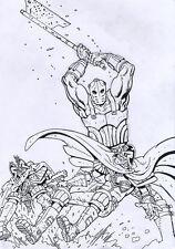 BRENDAN McCARTHY 2000 AD Prog. 1975 Judge Dredd ORIGINAL COVER ART