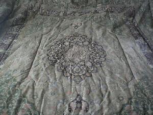 Ralph Lauren Rutherford Park Tapestry Rug Comforter Full/Queen Medallion Vine