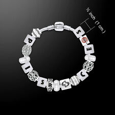 Pisces Astrology Bead .925 Sterling Silver Bracelet  by Peter Stone