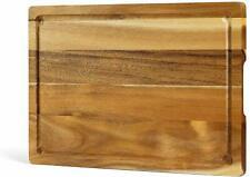 Acacia Wood Cutting Board: 15 x 10 x 0.7 Inch - Extra Large - US Stock