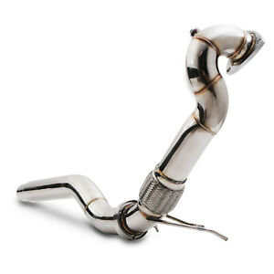 """3"""" STAINLESS EXHAUST DE CAT BYPASS DECAT DOWNPIPE FOR AUDI A3 S3 8L TT 8N 225"""