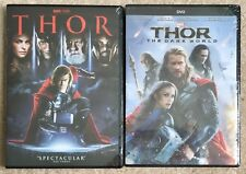 Thor + Thor The Dark World 2-DVD Combo Pack NEW (Free First Class Shipping)