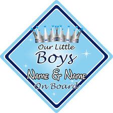 Personalizzato Bambino//Bambino a bordo auto sign ~ Mummys Piccole Principesse ~ Rosa